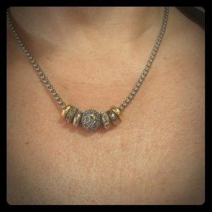 Swarovski Blue pave' necklace